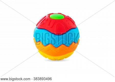 Baby Toy Ball Isolated On White Background. Educational Puzzle