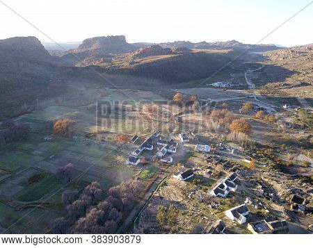 Aerial View Of Village In The Cederberg Mountains, South Africa