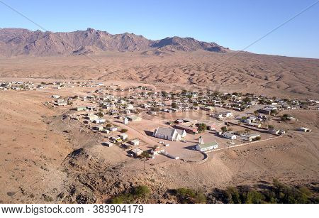 Aerial Over Small Town Of Koeboes In South Africa