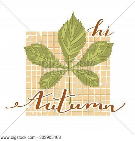 Autumn Mood. Stylish Typography Slogan Design