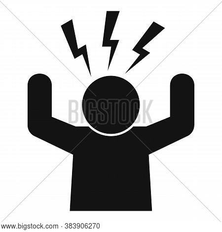 Stress Nervous Icon. Simple Illustration Of Stress Nervous Vector Icon For Web Design Isolated On Wh