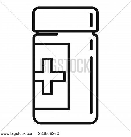 Anti Stress Pills Icon. Outline Anti Stress Pills Vector Icon For Web Design Isolated On White Backg