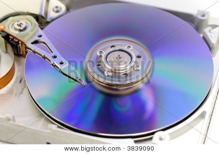 Hard Disk Drive In Blue
