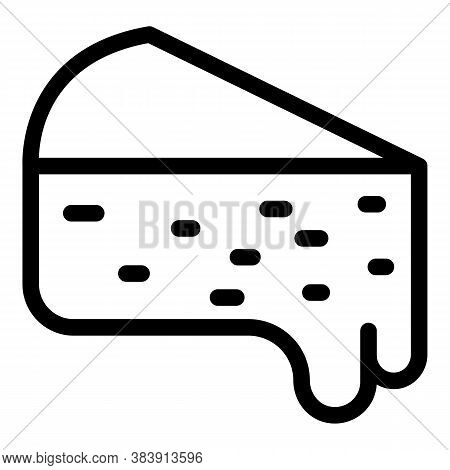 Cheese Melt Icon. Outline Cheese Melt Vector Icon For Web Design Isolated On White Background