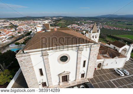 View Of Estremoz City From Castle In Alentejo, Portugal