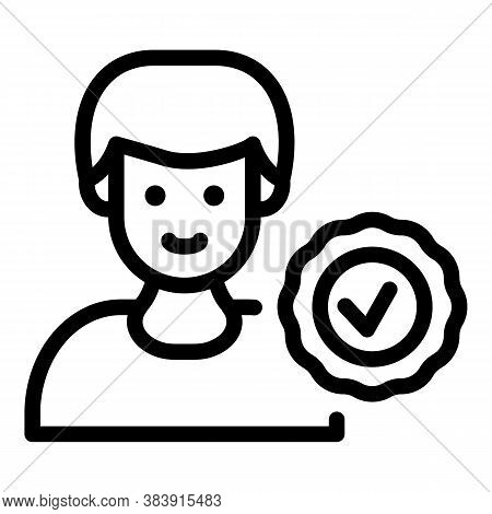 Quality Consultant Icon. Outline Quality Consultant Vector Icon For Web Design Isolated On White Bac