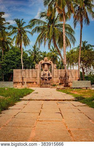 Narasimha Lakshmi Temple Hampi Antique Stone Art From Unique Angle