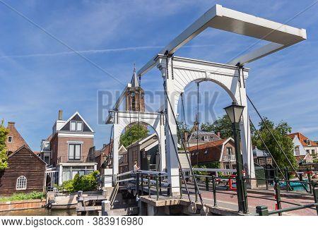 Loenen Aan De Vecht, Netherlands - May 21, 2020: Historic White Bridge Over Vecht River In Loenen, N