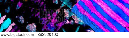 Dirty Decoration Illustration. Neon Deep Interstellar Space. Vivid Dirty Decorative Print. Street Ar