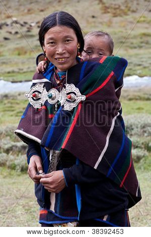 Burmese Woman With Baby
