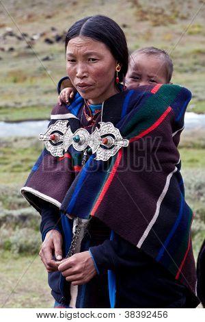 Burmese Woman With Baby