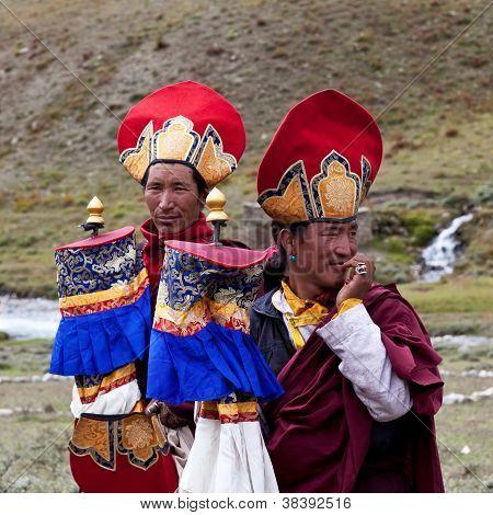 Tibetan Rnying-ma-pa Monks
