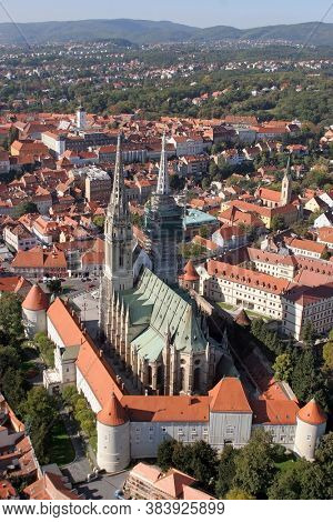 ZAGREB, CROATIA - OCTOBER 14, 2011: Cathedral of the Assumption of the Virgin Mary in Zagreb, Croatia