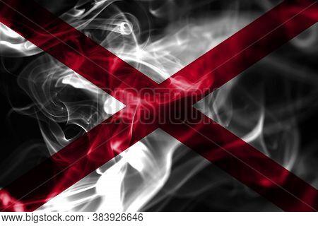 Alabama State Smoke Flag, United States Of America