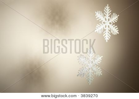 It's a background shot with two snowflakes at right poster