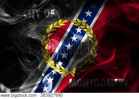 Montgomery City Smoke Flag, Alabama State, United States Of America