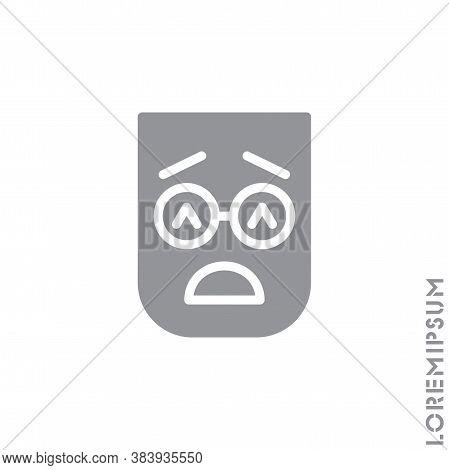 Sad Give Up Tired Emoticon Icon Vector Illustration. Style. Very Sad Cry Stressful Emoticon Icon Vec