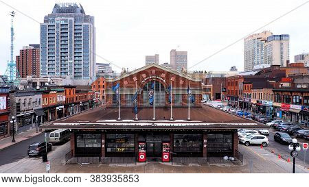 Ottawa, Canada -  March 31, 2019: Byward Market On A Quiet Saturday Winter Morning In Ottawa, Ontari