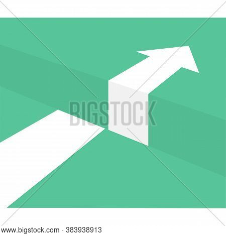 Icon Challenge Concept Obstacle Arrow. Vector Illustration Eps 10