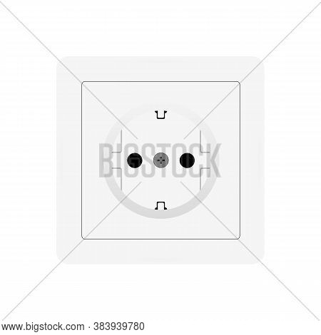 Realistic Outlet Icon. 220 Volt. Vector Illustration Eps 10