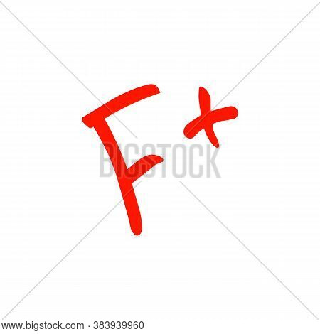 F Grade Sign Icon. Vector Illustration Eps 10