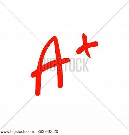 A Grade Sign Icon. Vector Illustration Eps 10