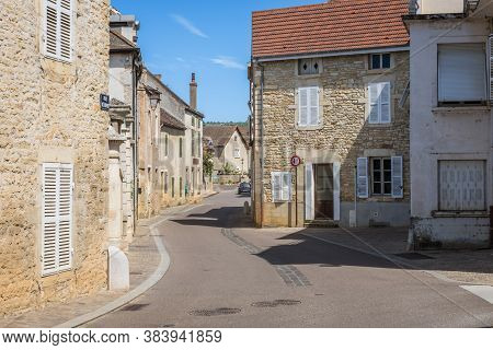 Meursault, Burgundy, France- July 9, 2020: Typical Living Houses In Meursault.