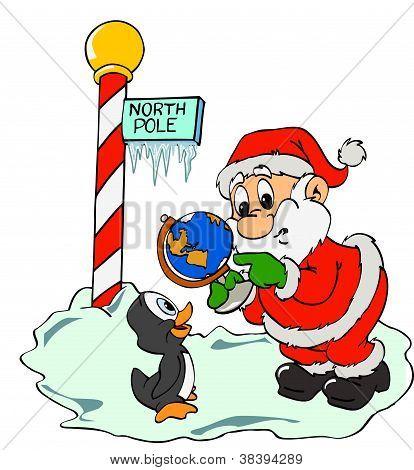 Santa Claus &Lost Penguin
