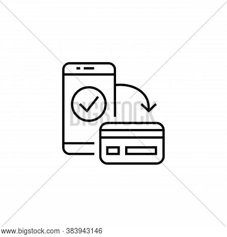 Icon Of Smartphone And Bank Card. Vector Illustration Eps 10