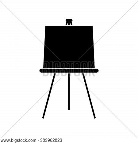 Art Easel With Blank Canvas, Vector Illustration