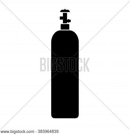 Gas Cylinder Icon Isolated On White, Vector Illustration