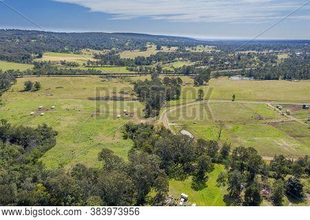 Farmland Near Wallacia In Wollondilly Shire In Regional New South Wales In Australia