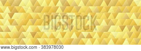 Shiny Gold Gradient Color Triangle Shapes Seamless Pattern Background, Glitter Golden Mosaic Geometr