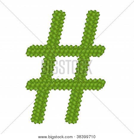 A Four Leaf Clove Of Number Sign