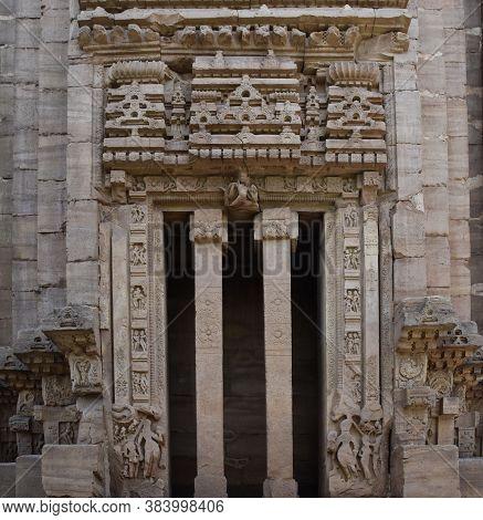 Gwalior, Madhya Pradesh/india : March 15, 2020 - Exterior Of Walls Of Teli Ka Mandir Or Temple In Gw
