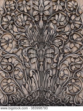 Gwalior, Madhya Pradesh/india - March 15, 2020 : Design Of Pillar At Gujari Mahal Museum In Gwalior