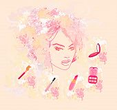 Make-up Girl - Poster Set vector illustration poster