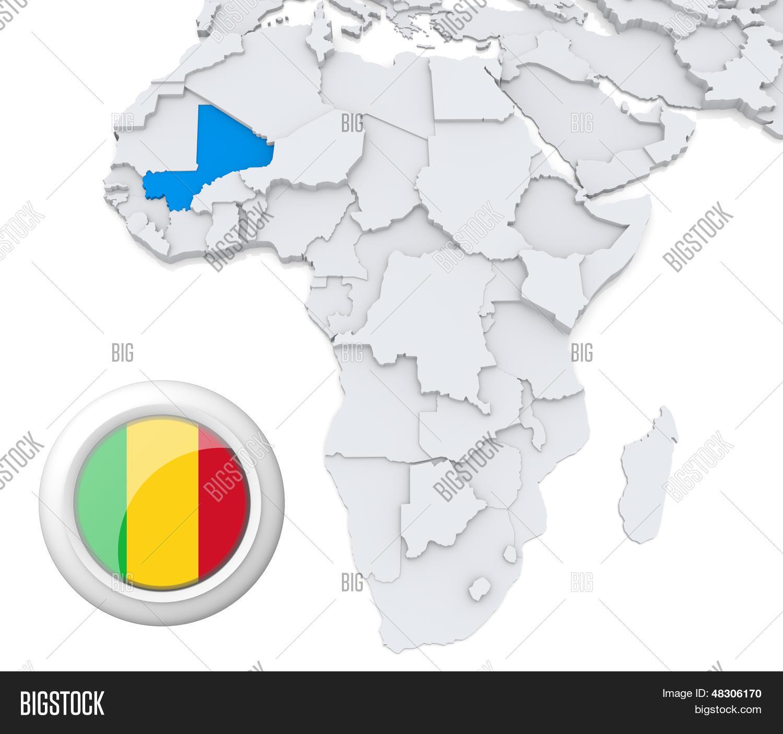 Mali On Africa Map Image & Photo (Free Trial) | Bigstock