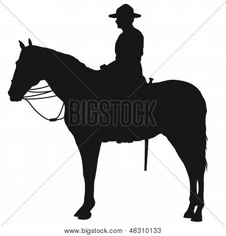 Canadian Mountie Silhouette