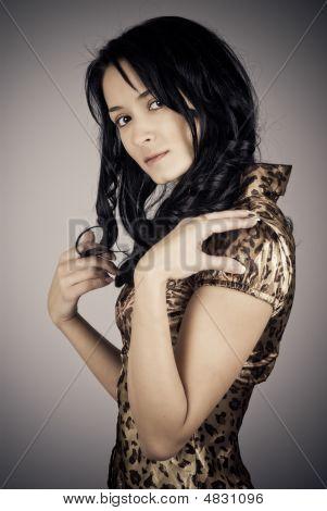 Studio Portrait Of Beautiful Woman