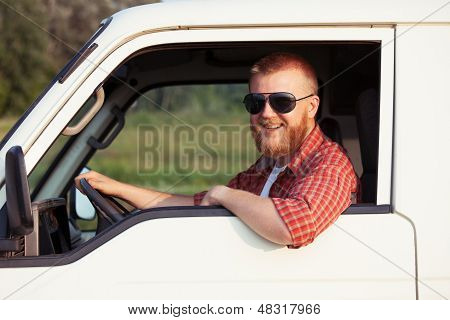 Driver Of A Small Pickup Truck