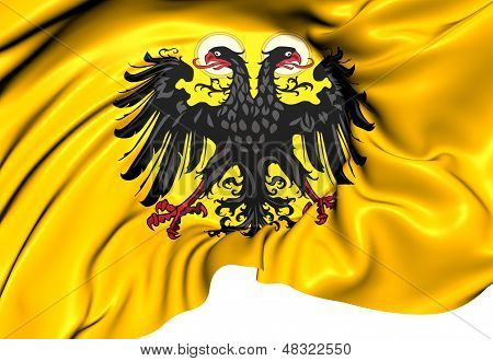 Holy Roman Empire Flag (1400-1806). Close Up. poster