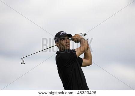 LOCH LOMOND, SCOTLAND - JUL 09 2009; Loch Lomond Scotland; Alvaro Quiros (ESP) competing in the first round of the PGA European Tour Barclays Scottish Open golf tournament.