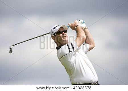 LOCH LOMOND, SCOTLAND - JUL 09 2009; Loch Lomond Scotland; Rory Sabbatini (RSA) competing in the first round of the PGA European Tour Barclays Scottish Open golf tournament.