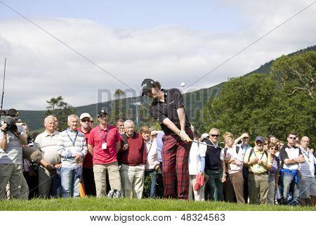 LOCH LOMOND, SCOTLAND - JUL 09 2009; Loch Lomond Scotland; Rory Mcilroy (GBR) competing in the first round of the PGA European Tour Barclays Scottish Open golf tournament.