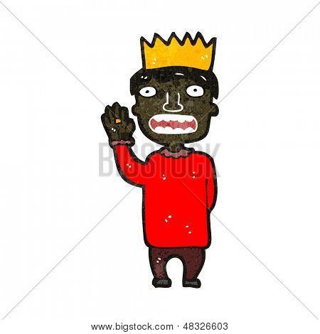 retro cartoon prince taking oath