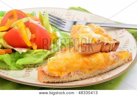 Tuna Melt With Salad