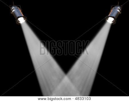 Two White Spot Lights