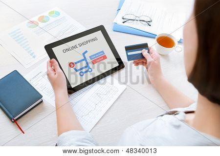Online Shopping With Digital Tablet
