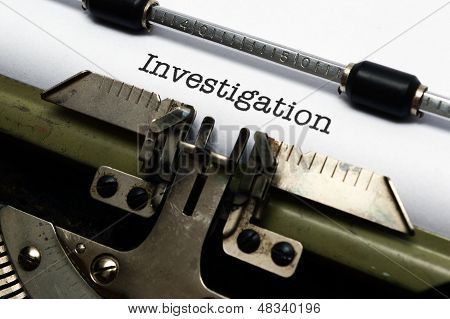Investigation Text On Typewriter